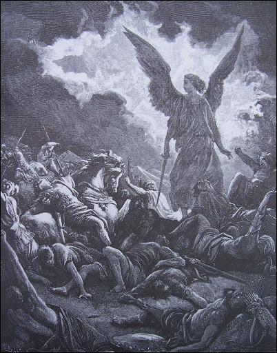 Un roi assyrien encercla Jérusalem en 701 av J. -C, dans la nuit avant la bataille, un ange de Yahvé frappa. Le matin 185 000 cadavres de son armée jonchèrent le sol, l'obligeant à un retour brusqué. Qui est-il ?