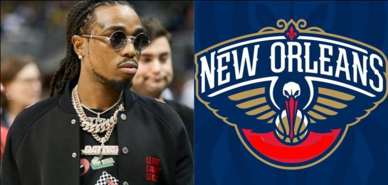 """Les lyrics : """"Clappin' on things like I'm in New Orleans"""" du titre """"Big Bro"""" de Quavo, évoquent l'équipe de basket de New Orleans des..."""