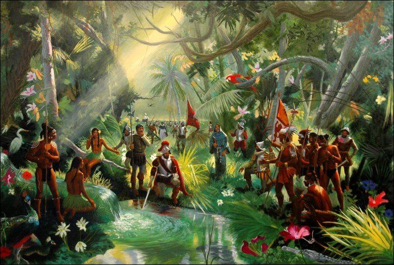 Selon la légende, quel conquistador et premier gouverneur de Porto Rico découvrit la Floride en 1513, alors qu'il était à la recherche de la fontaine de jouvence ?
