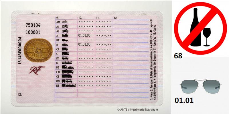Vie pratique : Sur votre permis de conduire, celui qui a pris la forme d'une carte de crédit, il existe une ligne numéro 12 nommé « code ».Que signifient cette ligne et surtout, ce terme « code » ?