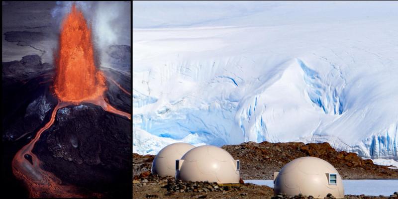 Géographie : L'Antarctique est le continent le plus méridional de la Terre. Situé autour du pôle Sud et côtoyant tous les océans de la Terre. Ce continent présente une autre particularité cachée par la calotte de glace.Quelle est-elle ?