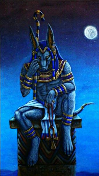 Quel dieu de la mythologie égyptienne apercevons-nous ici ?