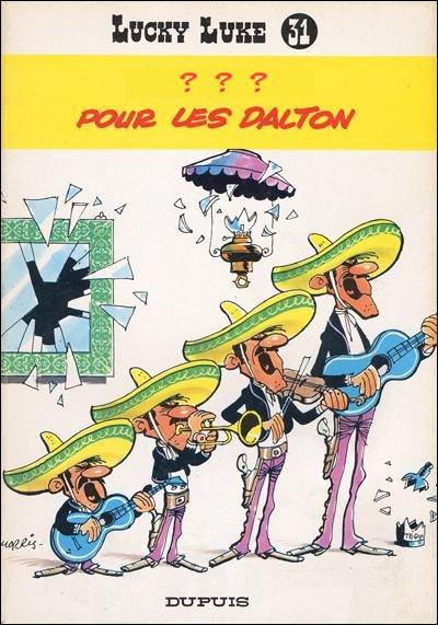 1967 > 31e aventure, au Mexique : les Daltons sont de retour. Le titre leur offre une spécialité locale [laquelle ? Quel est son procédé de fabrication ?] En outre, un chien portant le nom d'une région du pays participe à l'aventure : laquelle ?