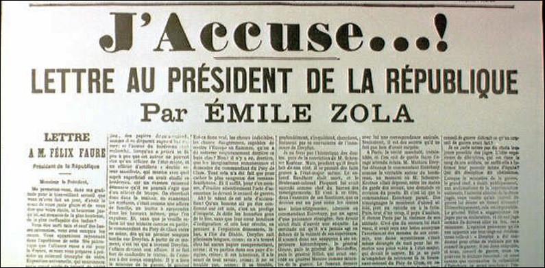 """Dans quel journal Emile Zola a-t-il écrit son fameux """"J'accuse... !"""" ?"""
