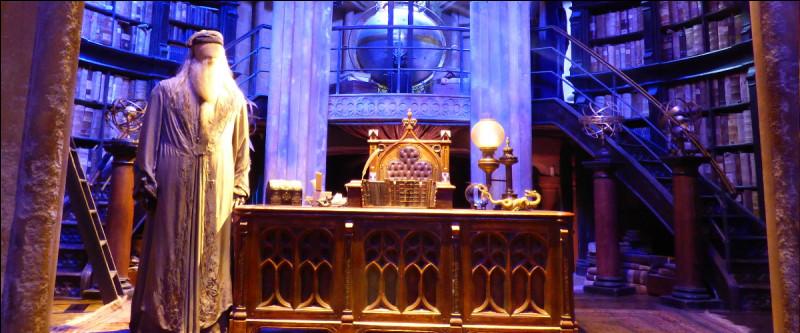 Le bureau de Dumbledore fourmille de détails, malheureusement on ne peut jamais trop s'approcher ! On distingue quand même…