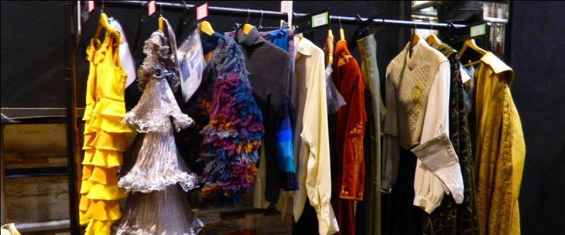 On quitte la Grande Salle, et le couloir suivant, qui introduit la partie musée, déborde de références. Ici, à qui appartient la robe jaune, tout à gauche ?