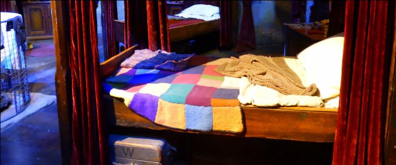 Après la grande Salle, c'est la deuxième pièce entièrement reconstituée : le dortoir des Gryffondor ! Qui est le propriétaire de ce lit ?