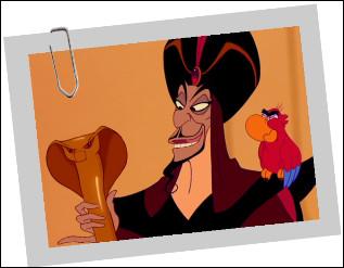 Dans Aladdin, quel est le nom du perroquet de Jaffar ?