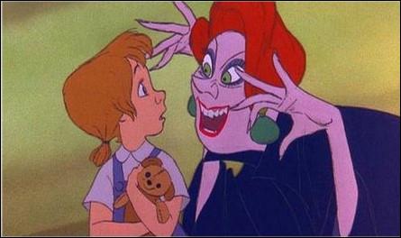 Dans quel dessin animé apparaît cette horrible méchante dame ?