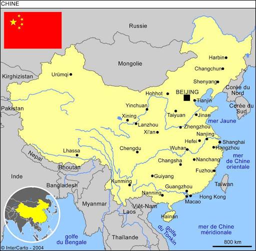 Combien existe-t-il de fuseaux horaires en Chine ?