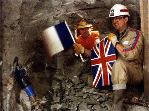 Dans quel tunnel Philippe Cozette et Graham Fagg ont-ils été les deux premiers hommes à se rencontrer ?