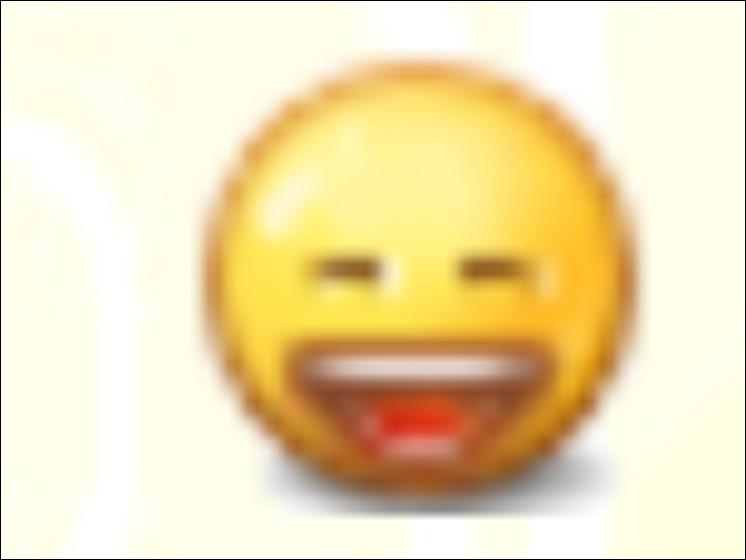 Continuons, comment fait-on le smiley qui rigole ?