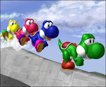 Yoshi peux avoir une couleur de ces 5 couleur laquelle ?