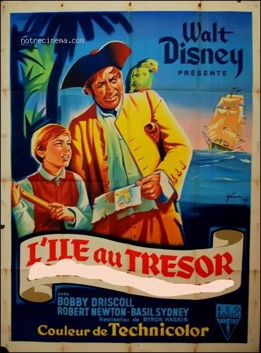 """Qui est l'auteur de """"L'Île au trésor"""", ouvrage adapté deux fois, une en film et une autre au dessin animé avec des extraterrestres ?"""