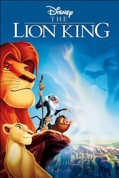 """""""Le Roi lion"""" est inspiré d'un conte africain."""