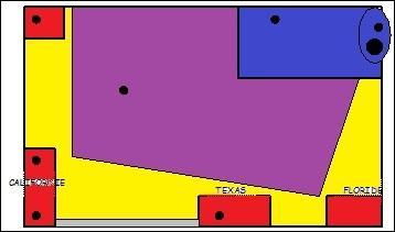 L'espace violet correspond :