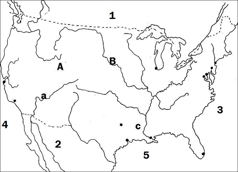 A quel pays limitrophe correspond le numéro 2 ?