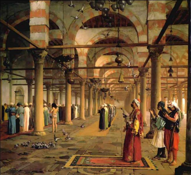"""Qui a représenté """"La Prière publique dans la mosquée"""" ?"""