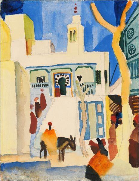 """Et voici la """"Vue d'une mosquée"""" par l'artiste :"""