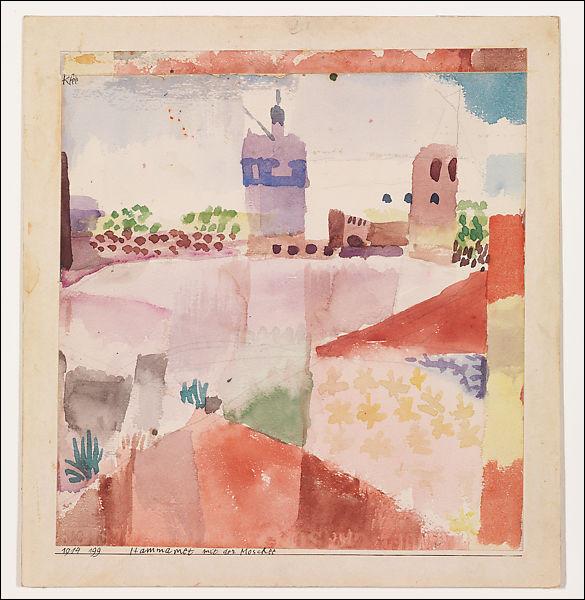 """Qui a peint """"Hammamet avec une mosquée"""" ?"""