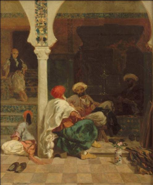 """Il a représenté les """"Tailleurs devant la mosquée"""" :"""