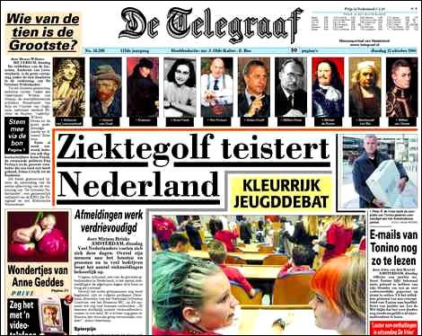 De quelle capitale européenne le journal «De Telegraaf» est-il ?