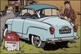 ''La Femme du notaire'' est une BD policière. Quelle voiture possède le journaliste Jacques Gipar dans cet album ?