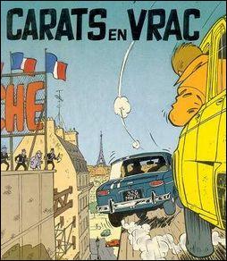 Dans ''Carats en vrac'', Gil Jourdan poursuit une voiture bleu. De quel modèle s'agit-il ?