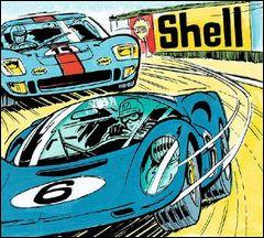 Cette Vaillante n°6 est poursuivie par un modèle légendaire des 24h du Mans. Quel est ce modèle ?