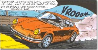 Le célèbre détective Ric Hochet aime les bolides. Quelle voiture conduit-il ?
