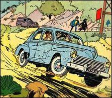 """Quelle auto va dans le décor sur la couverture du """"Lac de l'Homme Mort"""" ?"""