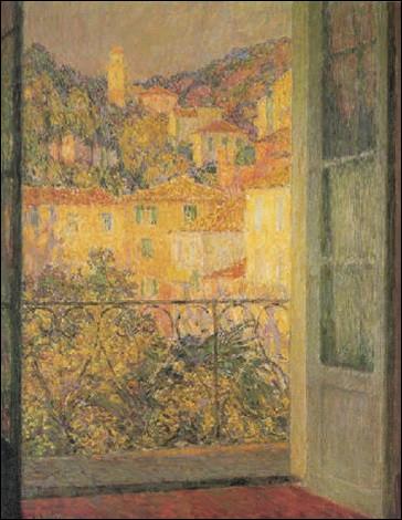 """Qui est l'auteur de la toile intitulée """"Fenêtre du Midi, Villefranche-sur-Mer"""" ?"""