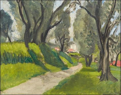 """Voici une toile également appelée """"Paysage du Midi. Qui en est l'artiste ?"""
