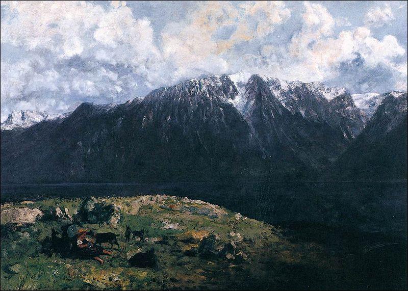 """Qui a représenté cette """"Vue panoramique sur les Alpes, les Dents du Midi"""" ?"""