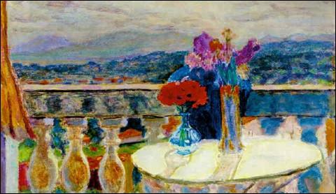 """Qui est le peintre de ces """"Fleurs devant un paysage du Midi"""" ?"""