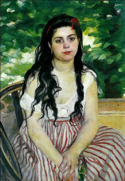 """Sa toile s'intitule """"En été, la bohémienne"""" :"""