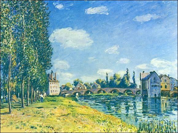 """Qui a peint """"Le Pont de Moret en été"""" ?"""
