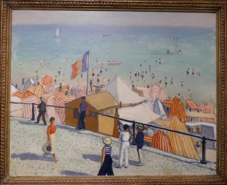 """Qui a représenté """"L'Été, la plage, les Sables d'ollonne"""" ?"""