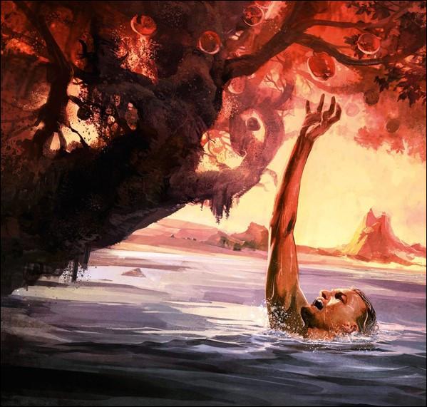 Pour avoir trop éprouvé les dieux, ce vaniteux roi de Phrygie sera condamné à souffrir de faim et de soif pour l'éternité. Qui est-il ?