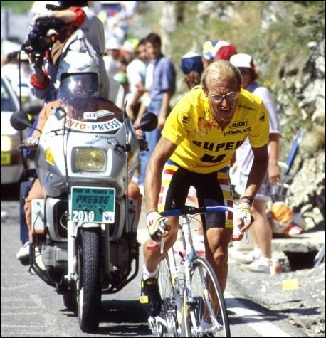 À combien de reprises le cycliste Laurent Fignon a-t-il remporté le Tour de France ?