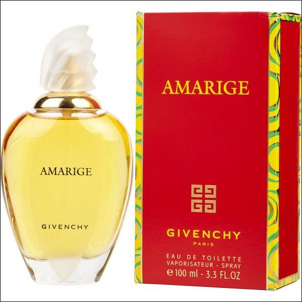 """Senteur fruitée de pêche et prune assortie des notes florales de la fleur d'oranger et du jasmin, à qui Givenchy offre-t-il """"Amarige"""" dans son élégant flacon ?"""