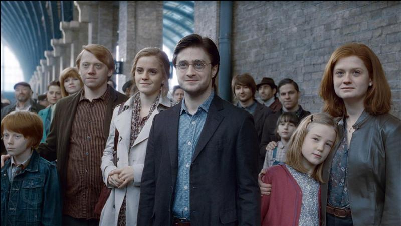 (Dernier chapitre, tome 7, 19 ans plus tard)Harry et Ginny ont trois enfants : Luna, Albus et Severus.