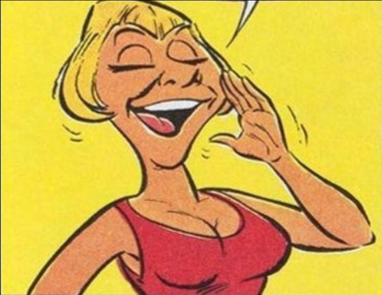 """Dans """"Astérix chez les Belges"""", qui a été source d'inspiration et caricaturée pour représenter le femme de Gueuselambix ?"""