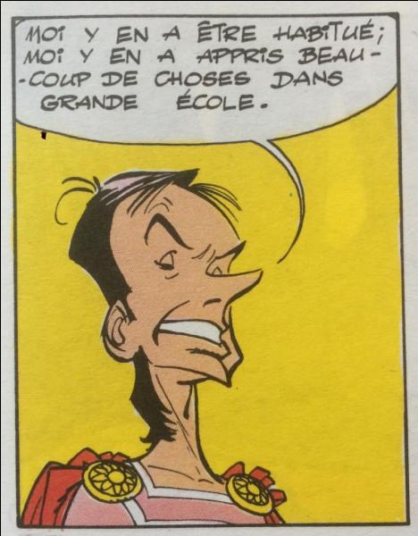 """Dans """"Astérix et Compagnie"""" lequel de nos présidents de la République a inspiré le dessinateur pour son personnage nommé """"Saugrenus"""" (conseiller de César) ?"""