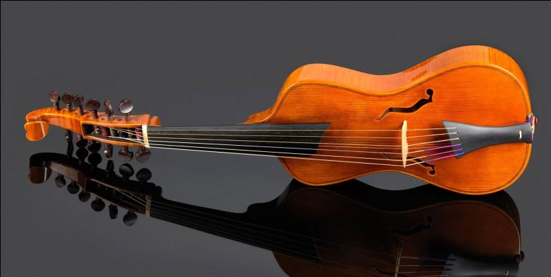 Quel est cet instrument de musique à six cordes, joué à l'aide d'un archet ?