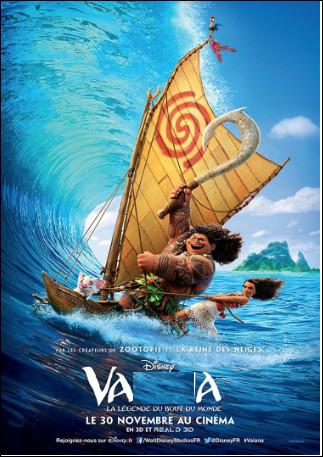 Quel est ce film des studios Disney de 2016 qui s'inspire librement de la mythologie polynésienne ?