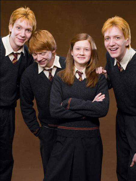 Combien de Weasley sont à Poudlard cette année ?
