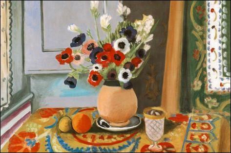 """Qui a peint """"Anémones dans un vase de terre"""" ?"""