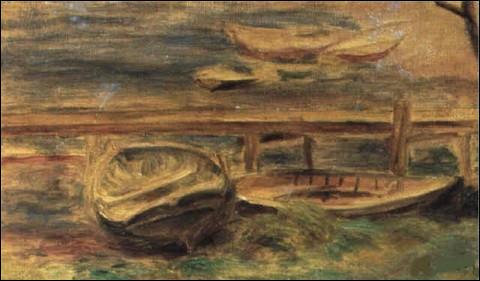 """Qui a représenté """"Rivière, bateau à terre"""" ?"""