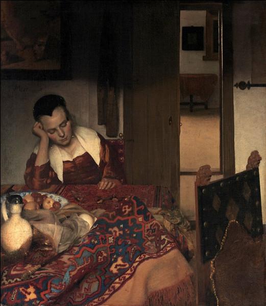"""Quel peintre hollandais du XVIIe a réalisé """"Jeune femme assoupie"""" ?"""